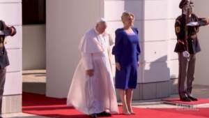 Slovacchia, Papa Francesco incontra la presidente della Repubblica Zuzana Caputova
