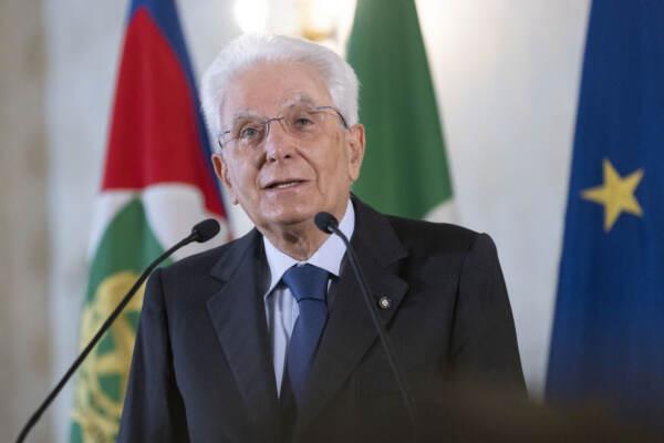 Sergio Mattarella in videoconferenza, alla sessione di apertura del Meeting di Rimini 2021