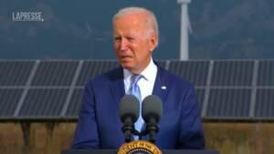 """Usa, Biden: """"Il piano di spesa è la chiave per il cambiamento climatico"""""""