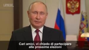 """Russia, Putin: """"Andate a votare alle elezioni parlamentari"""""""