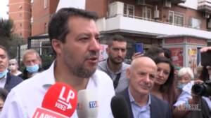 """Green pass, Salvini: """"Nessuna divisione nella Lega, governo paghi tamponi"""""""