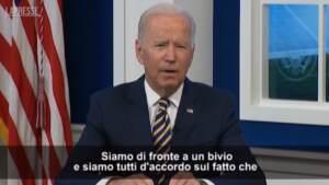 """Clima, Biden: """"Dobbiamo agire in fretta e subito"""""""