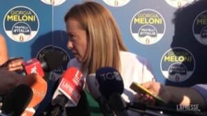 """Energia, Meloni: """"Faremo proposte per impedire mazzata bollette"""""""