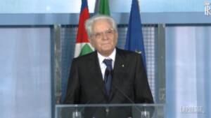"""Scuola, Mattarella: """"Oggi giorno speciale, è Italia che riparte"""""""