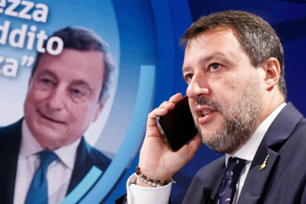 Matteo Salvini ospite a Porta a Porta