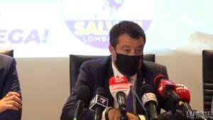 """Salvini contro Fedriga: """"No-vax? La Lega è per la libertà vaccinale"""""""