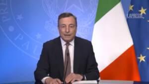 """Vaccini, Draghi: """"Da Italia 45 milioni di dosi a Paesi poveri"""""""