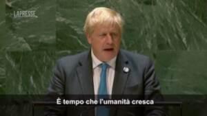 """Clima, Johnson all'Onu: """"È tempo di diventare grandi per evitare catastrofi"""""""