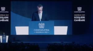 """Assemblea di Confindustria, Bonomi: """"Draghi come De Gasperi e Ciampi, uomo della necessità"""""""