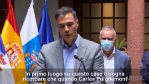 """Catalogna, il premier Sanchez: """"Puigdemont deve sottoporsi alla giustizia"""""""