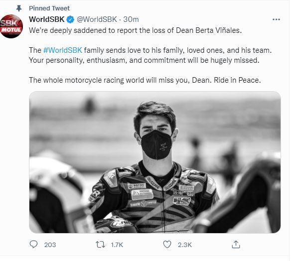 Tragedia a Jerez: morto il pilota 15enne Dean Berta Vinales