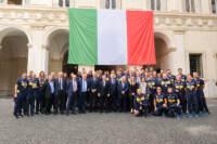 Presidente del Consiglio Mario Draghi incontra le Nazionali italiane di pallavolo a Palazzo Chigi