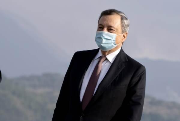 Il Presidente Draghi a L'Aquila