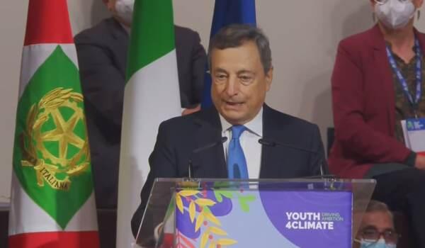 """Youth4Climate, Draghi ai giovani: """"Vi stiamo ascoltando"""""""
