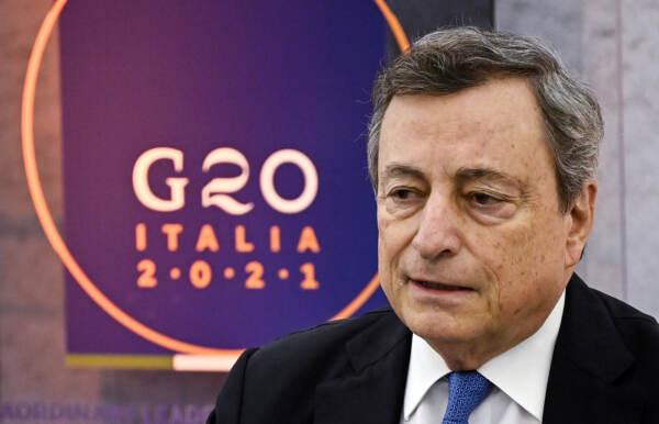 Roma, conferenza del Presidente Draghi dopo riunione straordinaria G20 sull'Afghanistan