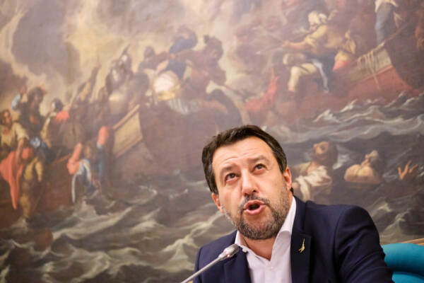 Lega, conferenza stampa di Matteo Salvini