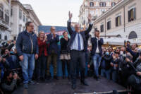 Roberto Gualtieri festeggia l'elezione a Sindaco di Roma