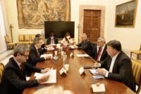 Presidente del Consiglio Mario Draghi riceve i sindacati a Palazzo Chigi