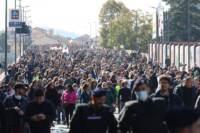 Bologna, corteo della manifestazione No Green Pass contro le restrizioni Covid-19
