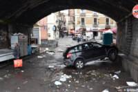 Catania, i danni del maltempo nel centro storico